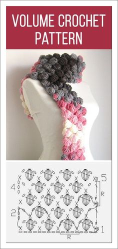 Exceptional Stitches Make a Crochet Hat Ideas. Extraordinary Stitches Make a Crochet Hat Ideas. Crochet Diagram, Crochet Chart, Diy Crochet, Crochet Stitches, Bobble Crochet, Crochet Scarves, Crochet Clothes, Knitting Patterns, Crochet Patterns