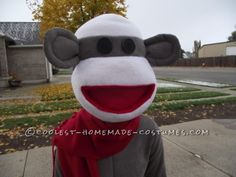 Cool Homemade Sock Monkey Costume That'll Knock Your Socks Off! ...This website is the Pinterest of costumes
