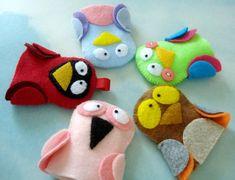 Bird Finger Puppets - via @Craftsy