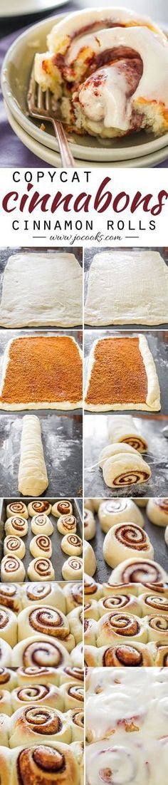 Copycat Cinnabons Cinnamon Rolls Recipe Jo Cooks - The BEST Cinnamon Rolls Recipes - Perfect Treats for Breakfast, Brunch, Desserts, Christmas Morning, Special Occasions and Holidays Just Desserts, Delicious Desserts, Dessert Recipes, Yummy Food, Oreo Dessert, Recipes Dinner, Cookies Et Biscuits, Cake Cookies, Baking Cookies