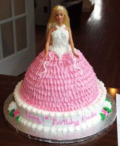 Doll 4 5 Cinderella Style Decorating Must Go On Round Bottom Cake