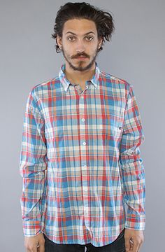 #karmaloop $50 Plaid, long sleeved button down featuring a front left chest pocket with a logo tag; 100% organic cotton.  By Cheap Monday