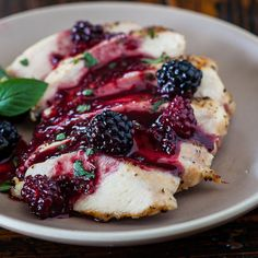 Grilled Chicken with Blackberry Sweet and Sour Sauce Recipe Recipe