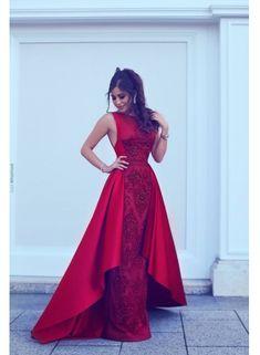 Rote Abendkleid Lang Günstig A Line Spitze Abendkleider Günstig Online