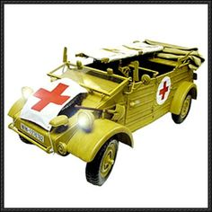 WWII Volkswagen Kübelwagen 1941 and 1944 Free Vehicle Paper Models Download - http://www.papercraftsquare.com/wwii-volkswagen-kubelwagen-1941-1944-free-vehicle-paper-models-download.html
