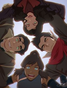 Avatar: Legend of Korra - Bolin, Asami, Mako, and Korra