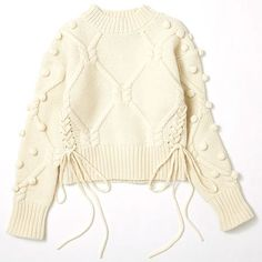 Lesson of the Week: Knit is the leading role warm Coe (Lumine Shinjuku) Knitwear Fashion, Knit Fashion, Fashion Fashion, Knitting Designs, Knitting Patterns, Sewing Patterns, Pull, Cable Knit, Hand Knitting