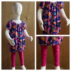 Jersey Knit Top and and Leggings child size 2t/3t by SewMeems