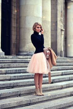 Cheap tutu skirt, Buy Quality gown jacket directly from China tutu outfits for toddlers Suppliers: Delicate Pink 5 Layers Knee Length Adult Tutu Tulle Skirts Christmas Gown Plus Size Bolsos Saias Femininas Vestidos Look Fashion, Fashion Beauty, Womens Fashion, Runway Fashion, Fashion News, Latest Fashion, Winter Fashion, Fashion Trends, Dress Skirt