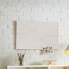 Keep with your scandi theme using white acoustic pinboard - perfect as a mood board and for the sound absorption factors. Sound Absorption, Factors, Acoustic, Mood