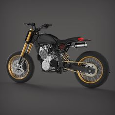 Renderings are cool but did I told you that this monster gonna be build as the LM ? Honda Dominator, Tracker Motorcycle, Bobber Motorcycle, Custom Motorcycles, Custom Bikes, Lamborghini Aventador Roadster, Moto Cafe, Retro Bike, Pit Bike