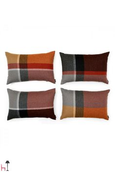 Crafted from an alpaca and sheep wool mix, add a fresh update to your master bed or keep warm on the sofa with these tartan cushions. Manhattan, Sheep Wool, Keep Warm, Cushion Covers, Pillow Shams, Home Furniture, Color Schemes, Cushions, Colours