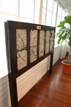 King Sized Headboard Made From Old Door with by DoormanDesigns
