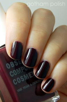 Obsessive Compulsive Cosmetics - Black Dahlia Wearing this right meow. It's perfection!!