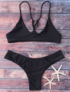 SHARE & Get it FREE | Spaghetti Strap Thong Bikini Set - BlackFor Fashion Lovers only:80,000+ Items • New Arrivals Daily Join Zaful: Get YOUR $50 NOW!
