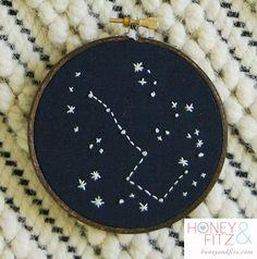 DIY Constellation Embroidery Hoop Art