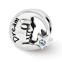 Sterling Silver Reflections Swarovski Dream Moon Bead - Pandora Compatible Use coupon code PINTEREST to save 15% off your order! kennebugboutique.com