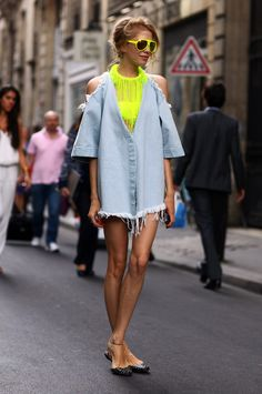 Marques Almeida Shredded Denim, Elena Perminova | Street Fashion | Street Peeper | Global Street Fashion and Street Style