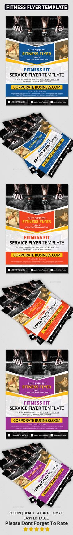 Painstaking PSD Fitness Flyer Template • Only available here ➝ http://graphicriver.net/item/fitness-flyer-/14467238?ref=pxcr