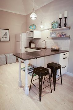 Houzz Small Kitchen Design Ideas Blue and White Pool House - traditional - Kitchen - Charleston - Nandina Home & Design