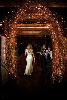Dramatic entryway, perfect for a fall wedding.