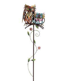 Metal Owl Garden Stake #zulily #zulilyfinds