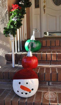 pumpkins on step1