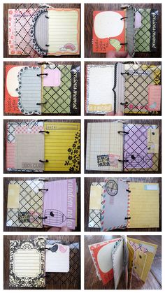 A layout and a 30 minute mini book out of one sheet of paper - My scrappin' life Mini Albums Scrap, Mini Scrapbook Albums, Scrapbook Paper Crafts, Handmade Journals, Handmade Books, Handmade Cards, Scrapbook Journal, Journal Cards, Junk Journal