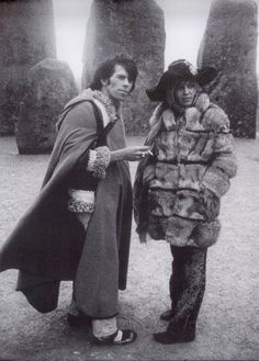 Keith Richards and Anita Pallenberg at Stonehenge, 1968.