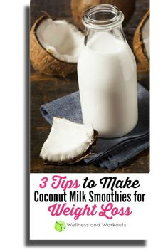 To make an effective coconut milk smoothie for weight loss, you need to know which healthy, clean eating recipes to avoid! To get results, you can't just throw any fruit in a blender and call it good. Check out these simple low carb tips on how to make yo Yummy Smoothie Recipes, Healthy Smoothies, Healthy Recipes, Milk Smoothies, Coconut Recipes, Gout Recipes, Healthy Drinks, Healthy Foods, Coconut Oil Weight Loss