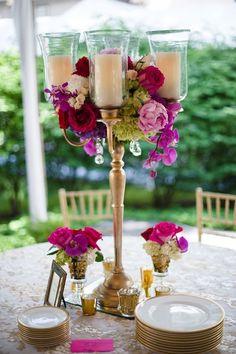 Wedding reception centerpiece idea; Featured Event Design: The Event Group