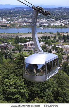 Portland Aerial Tram, Portland, Oregon. The tram is an aerial tramway carrying commuters between the city's South Waterfront district and the main Oregon Health & Science University (OHSU) campus, located in the Marquam Hill neighborhood. It is the second commuter aerial tramway in the United States (after New York City's Roosevelt Island Tramway).The tram travels a horizontal distance of 3,300 feet and a vertical distance of 500 feet in a ride that lasts three minutes. It is open to the…