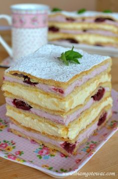 Polish Desserts, Polish Recipes, Sweet Recipes, Cake Recipes, Dessert Recipes, Cake Bars, Sweets Cake, Bakery Cakes, Happy Foods