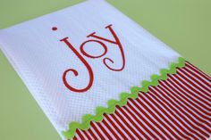 Items similar to Joy Christmas Kitchen Towel on Etsy – Cute and Trend Towel Models Christmas Tea, Christmas Sewing, Christmas Embroidery, Christmas Crafts, Handmade Christmas, Xmas, Christmas Kitchen Towels, Kitchen Hand Towels, Dish Towels