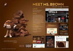 "M: ""MS. BROWN CHARACTER LAUNCH"" Print Ad by BBDO New York"