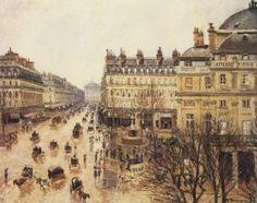 Pissaro Paris sous la pluie 1898