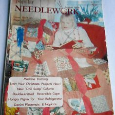#Vintage #August 1974 #Popular #Needlework & #Crafts #Magazine #Pattern #guide #book #AD #collectables #Christmas #crafts #Hexagon #Quilt #making #Lingerie #etsy #studio