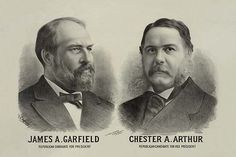 James A. Garfield Republican candidate for president - Chester A. Arthur Republican candidate for vice president