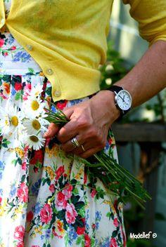 A simple pleasure: picking daisies.