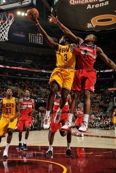 Dion Waiters #3 of the Cleveland Cavaliers goes up for the shot against Bradley Beal #3 of the Washington Wizards on October 30, 2012 in Cleveland, Ohio  Please Like,Pin,or Comment. Thanks.  http://storytopics.blogspot.com