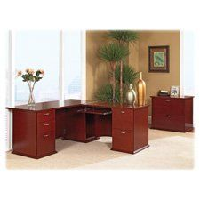 Lorell Bridge, 42 by 24 by 29-Inch, Mahogany by Lorell. $302.10. office suite furniture is made of select hardwood veneers with a catalyzed lacquer top coat for a stain-resistant, scratch-resistant surface. Pedestals accommodate letter-size and legal-size filing. Contemporary curvilinear-style pulls on drawers have a lustrous nickel finish. Office suite furniture is made of select hardwood veneers with a catalyzed lacquer top coat for a stain-resistant, scratch-resist...