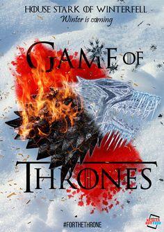 ArtStation - House Stark of Winterfell, Karen Keslen Got Game Of Thrones, Valar Dohaeris, House Stark, Book Fandoms, Book Quotes, Home Art, Songs, Artsy, Wallpapers