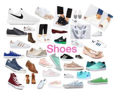 """""""Shoes"""" by gturza on Polyvore featuring NIKE, adidas, adidas Originals, Chinese Laundry, Converse, Superga, Head Over Heels, Steve Madden, Barneys New York and Victoria's Secret"""
