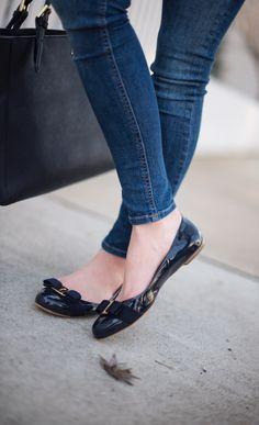 Cute Shoes Flats, Flats Outfit, Shoes Heels, High Heels, Ballerina Shoes, Ballet Flats, Girls Flats, Black Shoes, Shoe Boots
