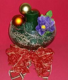 Taça de Natal com Flores em EVA. Pegando encomendas ...