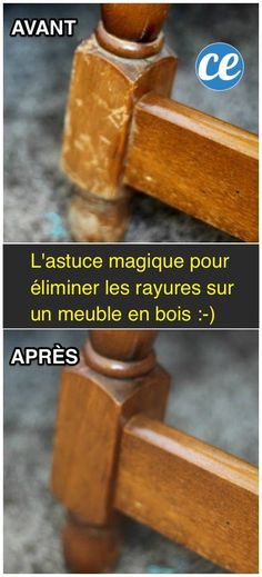 La méthode facile et pas cher pour enlever les rayures des meubles en bois You are in the right place about furniture plans Here we offer you the most beautiful pictures about the classic furni Handmade Furniture, Wooden Furniture, Furniture Design, Home Furniture, Furniture Repair, Home Design, Design Ideas, Design Design, Black And Gold Bathroom