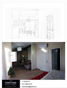 Детская комната с эскизом