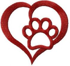 i love animals free embroidery design