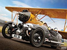 Morgan 3 Wheeler and Stearman Biplane