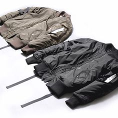 stampd la bomber jackets - A classic and clean look. Goes great with plain black jeans and a white t shirt. Nothing beats a good bomber jacket Military Fashion, Mens Fashion, Cool Bomber Jackets, Kanye West Style, All Black Fashion, Mens Big And Tall, Plain Black, Swagg, Streetwear Fashion